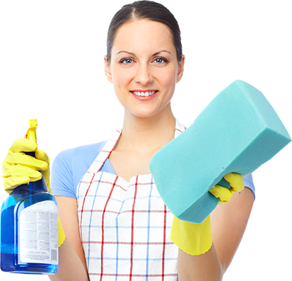 Janex cleaning supplies in a girl hand